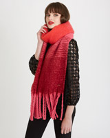 red Savida Bloom Ombre Scarf