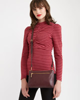 burgundy Savida Zip Compartment Crossbody
