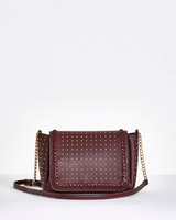 burgundy Savida Studded Crossbody