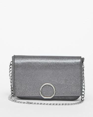 pewterSavida Metallic Flap Bag