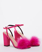 pink Savida Heeled Feather Sandals