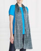 turq-white Gallery Triangle Scarf