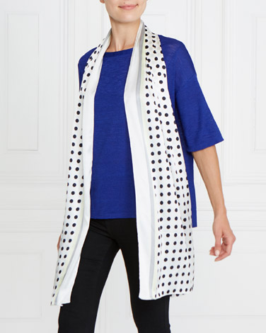 Gallery Spot Border Scarf