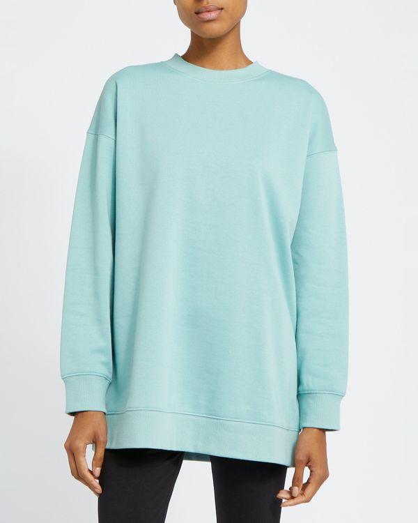 Longline Crew Neck Sweatshirt