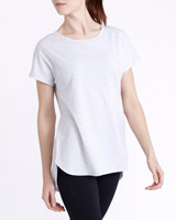 grey-marl Split Back T-Shirt