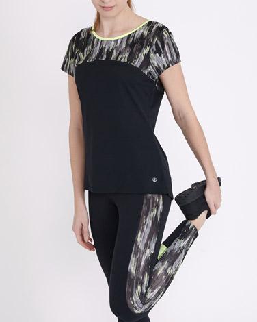 blackPrinted T-Shirt