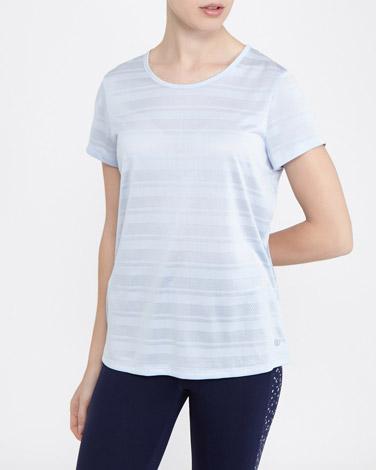 light-blueCross Strap T-Shirt