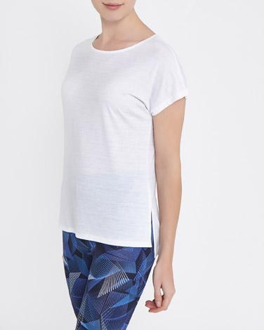 whiteTextured T-Shirt