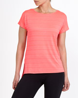 bright-pink Textured T-Shirt