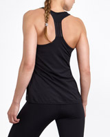 black Elastic Detail Vest