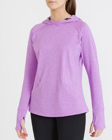 purpleCross Neck Hoodie