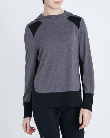 charcoalContrast Cowl Neck
