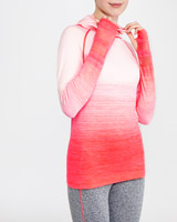 coral Long-Sleeved Ombre Seamfree Top