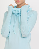 aqua Long Sleeve Cowl Neck Seamfree Top