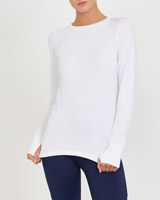 white Jacquard Seamfree Top