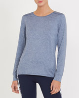 denim Long-Sleeved Top
