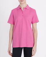 pink Classic Pique Polo Shirt