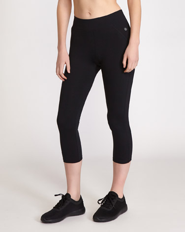 black Core Capri Leggings