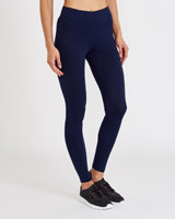 navy Stretch Ankle Length Leggings