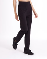 black Relaxed Travel Pants