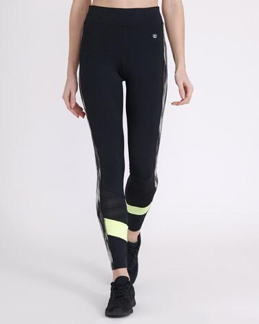 blackSide Print Leggings