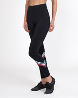 black Stripe Detail Leggings