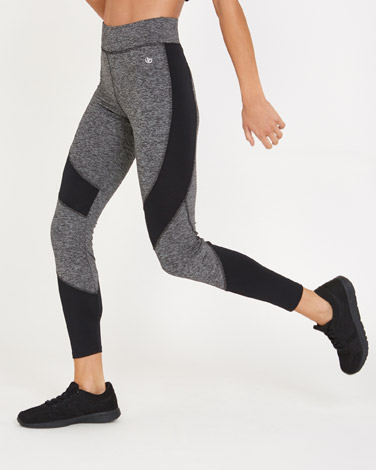 charcoalTextured Block Leggings