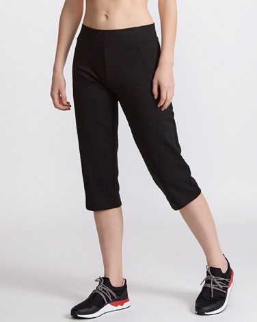 black Cotton Rich Crop Bottoms
