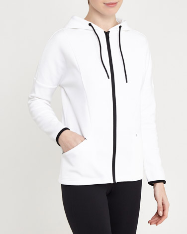 white Clean Seam Jacket