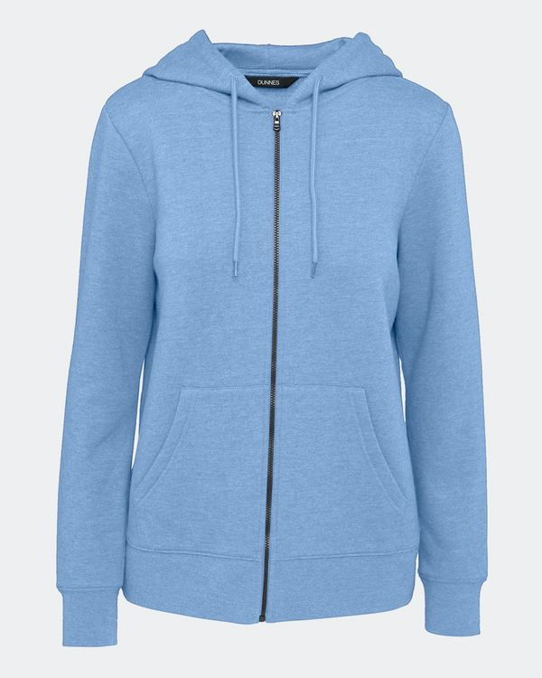 Marl Zip Through Hoodie