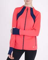 coral Panelled Jacket