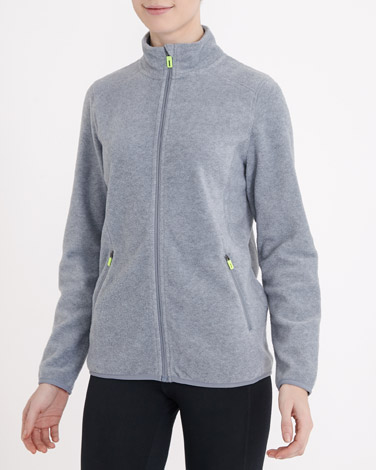 grey-marl Zip Through Fleece