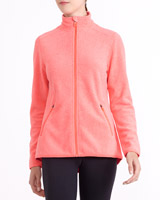 coral-marl Zip Through Fleece