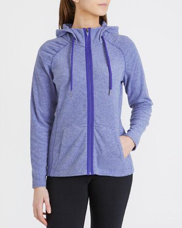 purpleRuched Detail Fleece
