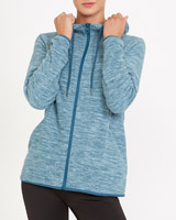 light-green Spacedye Zip Through Fleece