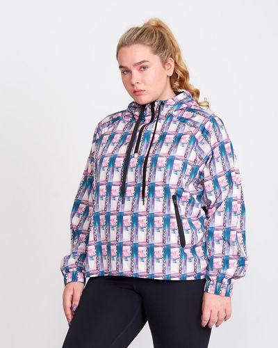Helen Steele Chain Print Half Zip Jacket