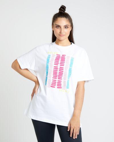 Helen Steele Stripe Placement Print T-Shirt