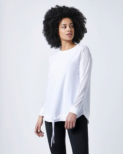 Helen Steele Long-Sleve Mesh Detail Drawcord Top