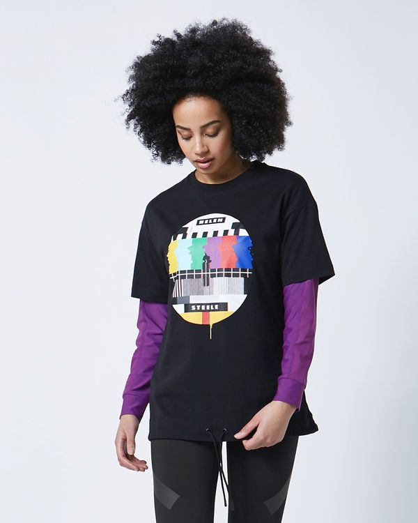 Helen Steele Black Placement Print T-Shirt