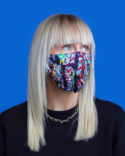 Helen Steele Glitch Printed Face Covering