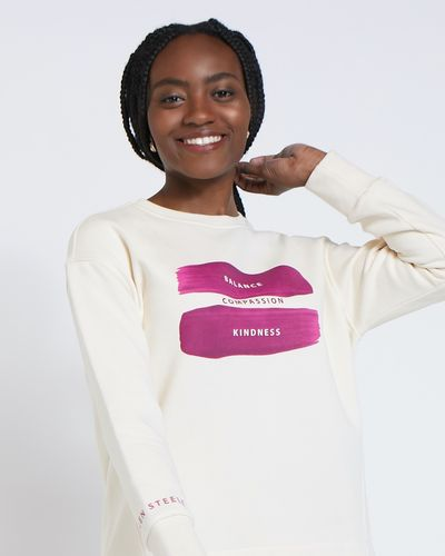 Helen Steele Crew Neck Placement Print Sweatshirt