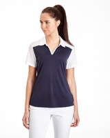 navy Pádraig Harrington Jacquard insert Polo (UPF 50)