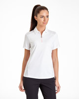 white Pádraig Harrington Zip Detail Polo (UPF 50)