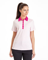 pink Pádraig Harrington Jacquard Polo (UPF 50)