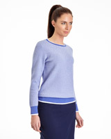 cornflower Pádraig Harrington Crew Neck Jacquard Jumper