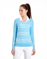 blue Pádraig Harrington Stripe Jumper