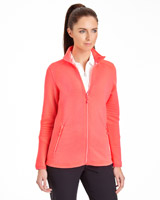 coral Pádraig Harrington Long-Sleeved Ribbed Zip Through
