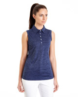 navy Pádraig Harrington Sleeveless Spacedye Polo