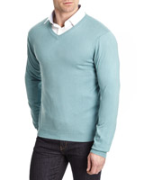 green Paul Costelloe Living Silk-Cashmere Blend Jumper