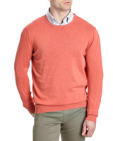 coral Paul Costelloe Living Cotton Crew Neck